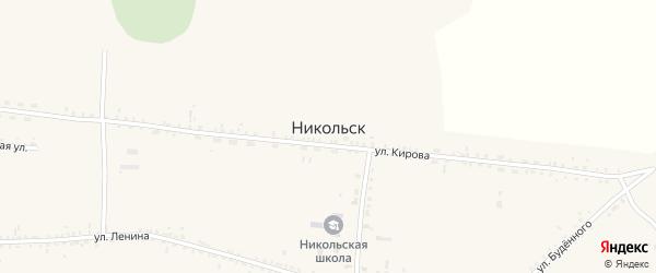 Комсомольская улица на карте села Никольска с номерами домов
