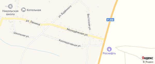 Молодежная улица на карте села Никольска с номерами домов