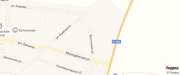 Восточная улица на карте села Никольска с номерами домов