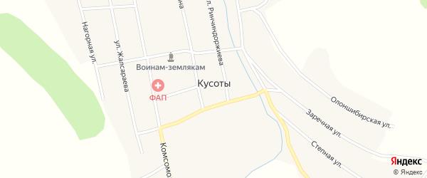 Улица Даши Мункоева на карте улуса Кусоты с номерами домов
