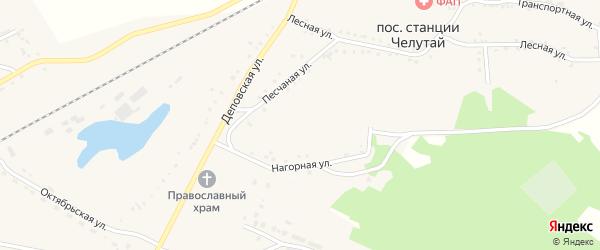 Транспортная улица на карте поселка Челутая (24 км) с номерами домов