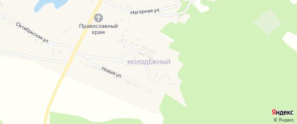 Молодежный микрорайон на карте поселка Челутая (3 км) с номерами домов