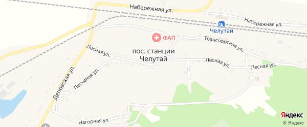 Приречная улица на карте поселка Челутая (24 км) с номерами домов
