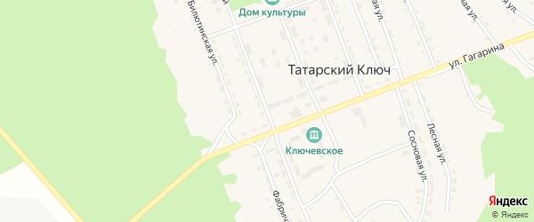 Улица Строителей на карте поселка Татарского Ключа с номерами домов
