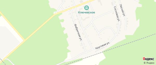 Фабричная улица на карте поселка Татарского Ключа с номерами домов