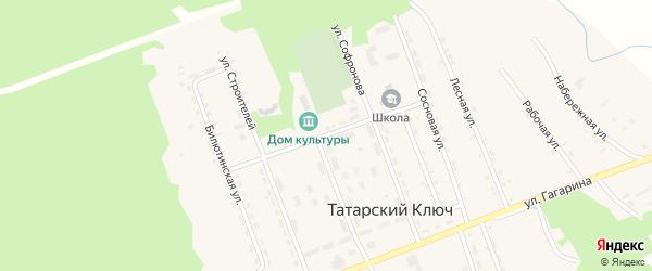 Спортивная улица на карте поселка Татарского Ключа с номерами домов