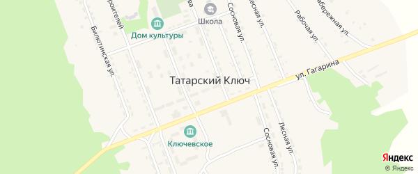 Юбилейная улица на карте поселка Татарского Ключа с номерами домов