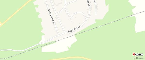 Круговая улица на карте поселка Татарского Ключа с номерами домов
