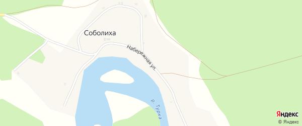 Набережная улица на карте поселка Соболихи с номерами домов