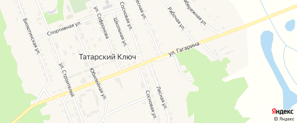 Лесная улица на карте поселка Татарского Ключа с номерами домов