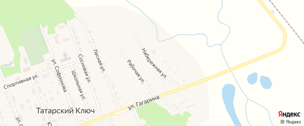 Набережная улица на карте поселка Татарского Ключа с номерами домов