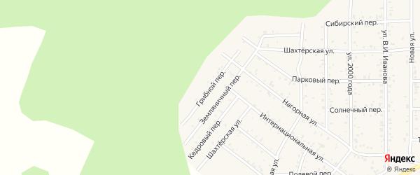Грибной переулок на карте поселка Сагана-Нура с номерами домов