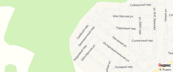 Земляничный переулок на карте поселка Сагана-Нура с номерами домов