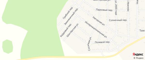 Шахтерская улица на карте поселка Сагана-Нура с номерами домов