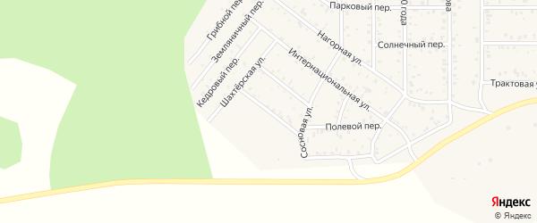 Зеленый переулок на карте поселка Сагана-Нура с номерами домов