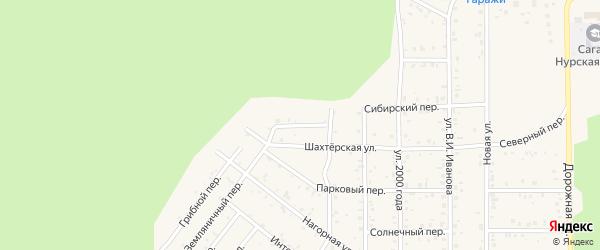 Дачный переулок на карте поселка Сагана-Нура с номерами домов