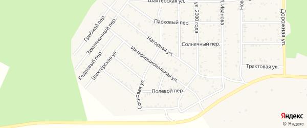 Интернациональная улица на карте поселка Сагана-Нура с номерами домов