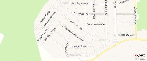 Сосновая улица на карте поселка Сагана-Нура с номерами домов