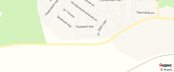 Одонская улица на карте поселка Сагана-Нура с номерами домов
