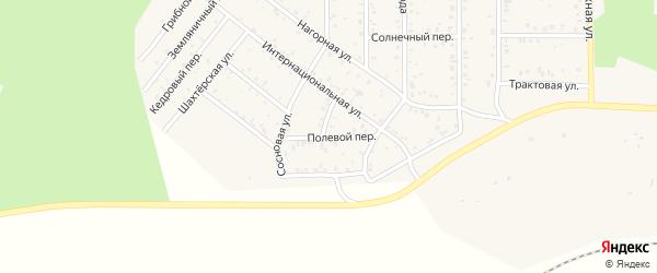 Полевой переулок на карте поселка Сагана-Нура с номерами домов