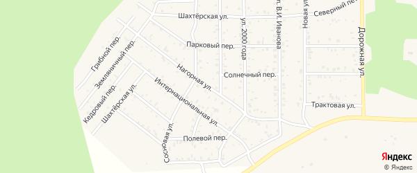 Нагорная улица на карте поселка Сагана-Нура с номерами домов
