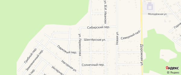 Улица 2000 года на карте поселка Сагана-Нура с номерами домов