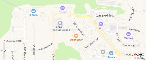 Молодежная улица на карте поселка Сагана-Нура с номерами домов