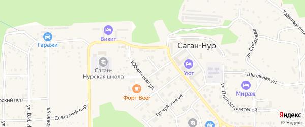 Молодежный переулок на карте поселка Сагана-Нура с номерами домов