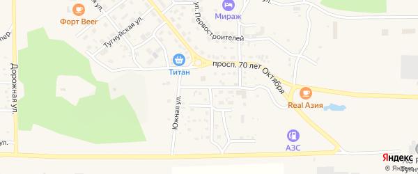 Олоншибирская улица на карте поселка Сагана-Нура с номерами домов