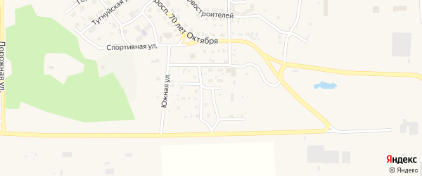 Степная улица на карте поселка Сагана-Нура с номерами домов