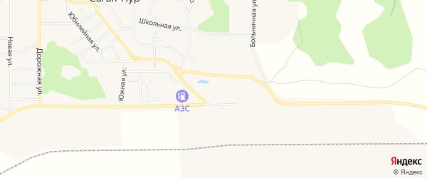 Карта поселка Сагана-Нура в Бурятии с улицами и номерами домов