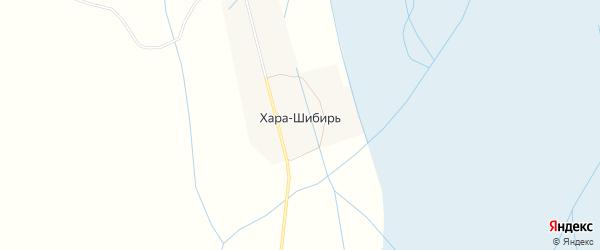 Карта улуса Хара-Шибирь в Бурятии с улицами и номерами домов
