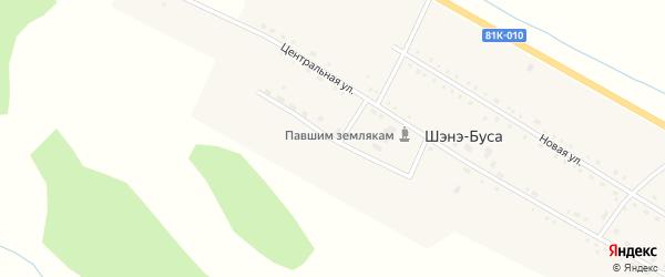 Тепличная улица на карте улуса Шэнэ-Буса с номерами домов