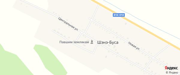 Центральная улица на карте улуса Шэнэ-Буса с номерами домов