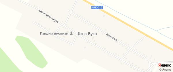 Заречная улица на карте улуса Шэнэ-Буса с номерами домов
