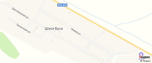 Новая улица на карте улуса Шэнэ-Буса с номерами домов