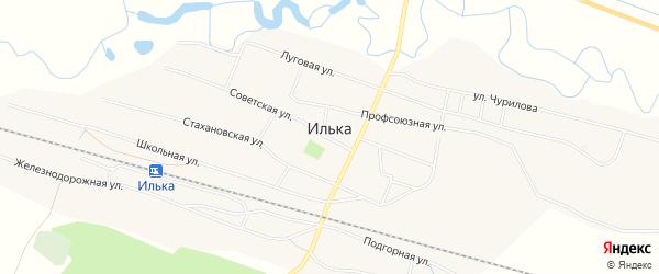 Карта села Ильки в Бурятии с улицами и номерами домов