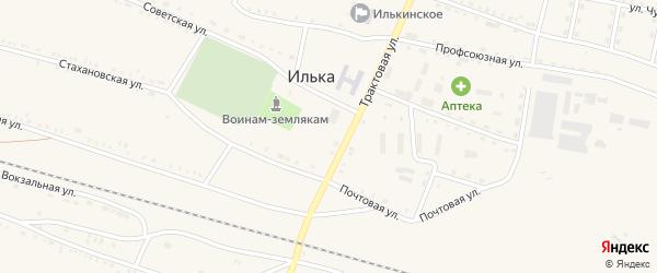 Стахановская улица на карте села Ильки с номерами домов