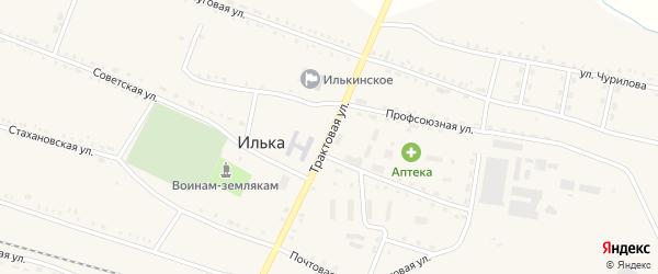 Трактовая улица на карте села Ильки с номерами домов