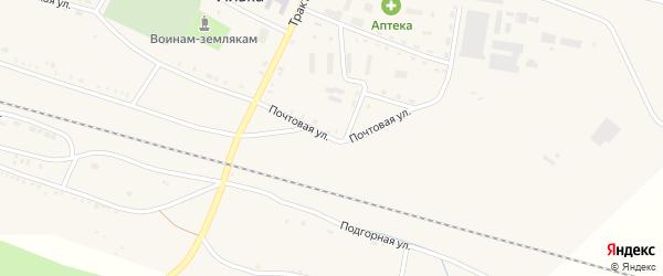 Почтовая улица на карте села Ильки с номерами домов