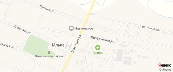 Профсоюзная улица на карте села Ильки с номерами домов