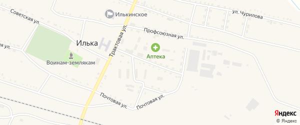Заводская улица на карте села Ильки с номерами домов