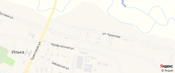 Пионерская улица на карте села Ильки с номерами домов
