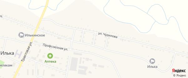 Комсомольская улица на карте села Ильки с номерами домов