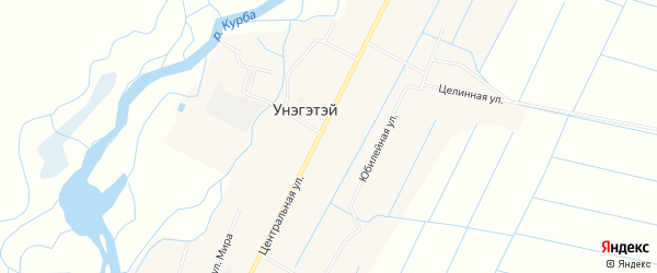 Карта села Унэгэтэй в Бурятии с улицами и номерами домов