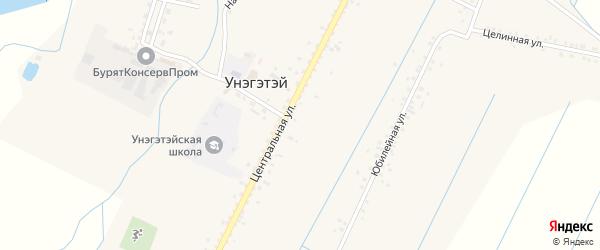 Восточная улица на карте села Унэгэтэй с номерами домов