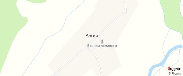 Улица Ангир на карте улуса Ангир с номерами домов