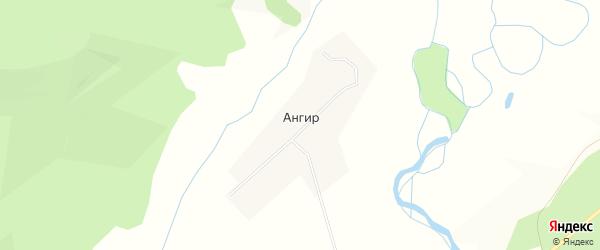 Карта улуса Ангир в Бурятии с улицами и номерами домов