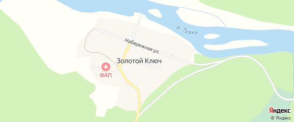Таежная улица на карте поселка Золотого Ключа с номерами домов