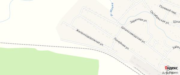 Железнодорожная улица на карте села Новоильинска с номерами домов